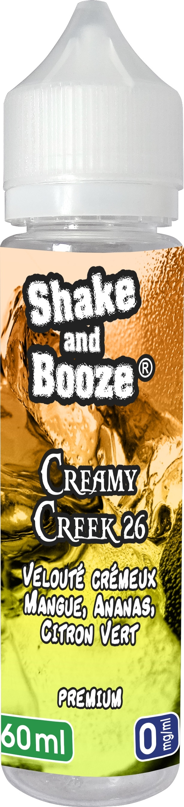 E-LIQUIDE CREAMY CREEK 26 - SHAKE & BOOZE 60ML