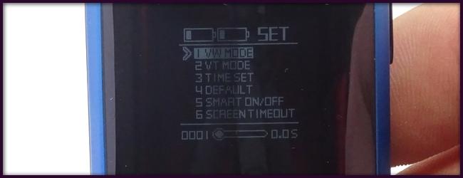 Réglage de la box - écran OLED de la box REVENGER 220W - Vaporesso