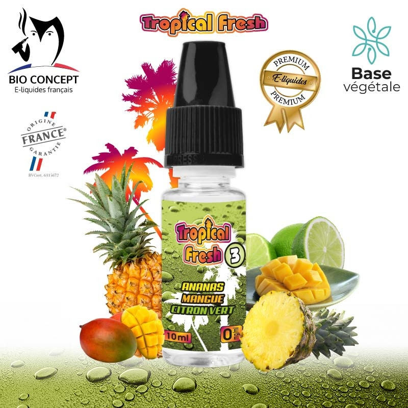 E-LIQUIDE PREMIUM TROPICAL FRESH N°3