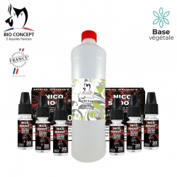 PACK 1 LITRE BASE + BOOSTER 3MG/ML