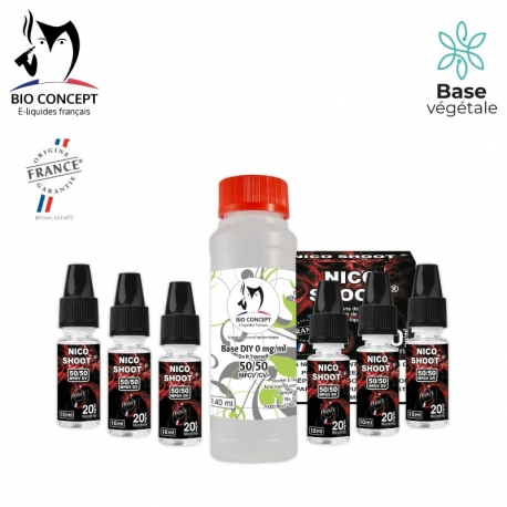 PACK 140ML BASE + NICO SHOOT® 6MG/ML
