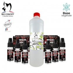 PACK 1 LITRE BASE + BOOSTER 6MG/ML