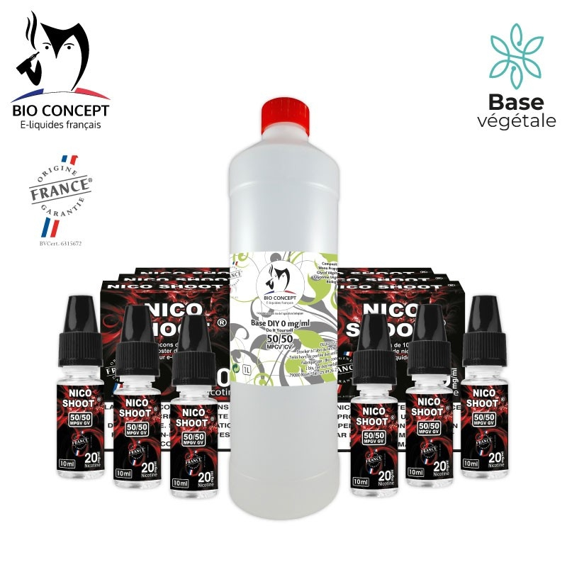 PACK 1 LITRE BASE + NICO SHOOT® 10MG/ML