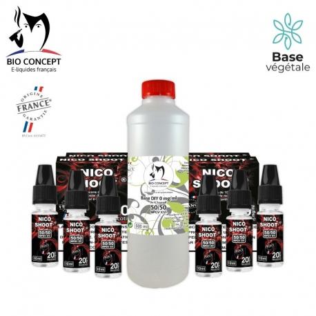 PACK 500ML BASE + NICO SHOOT® 6MG/ML