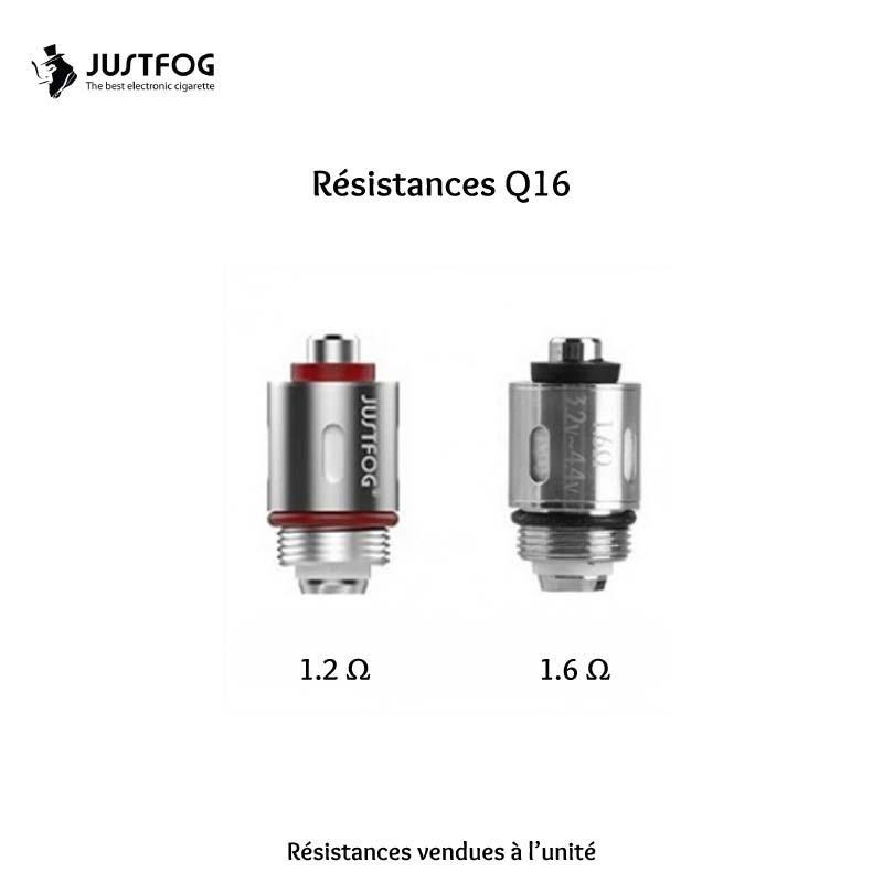RESISTANCES JUSTFOG Q16 BOITE DE 5