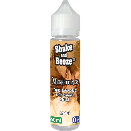 E-LIQUIDE BIO MANHATTAN 38 - Tabac Blond, Caramel et Vanille SHAKE & BOOZE 60ML
