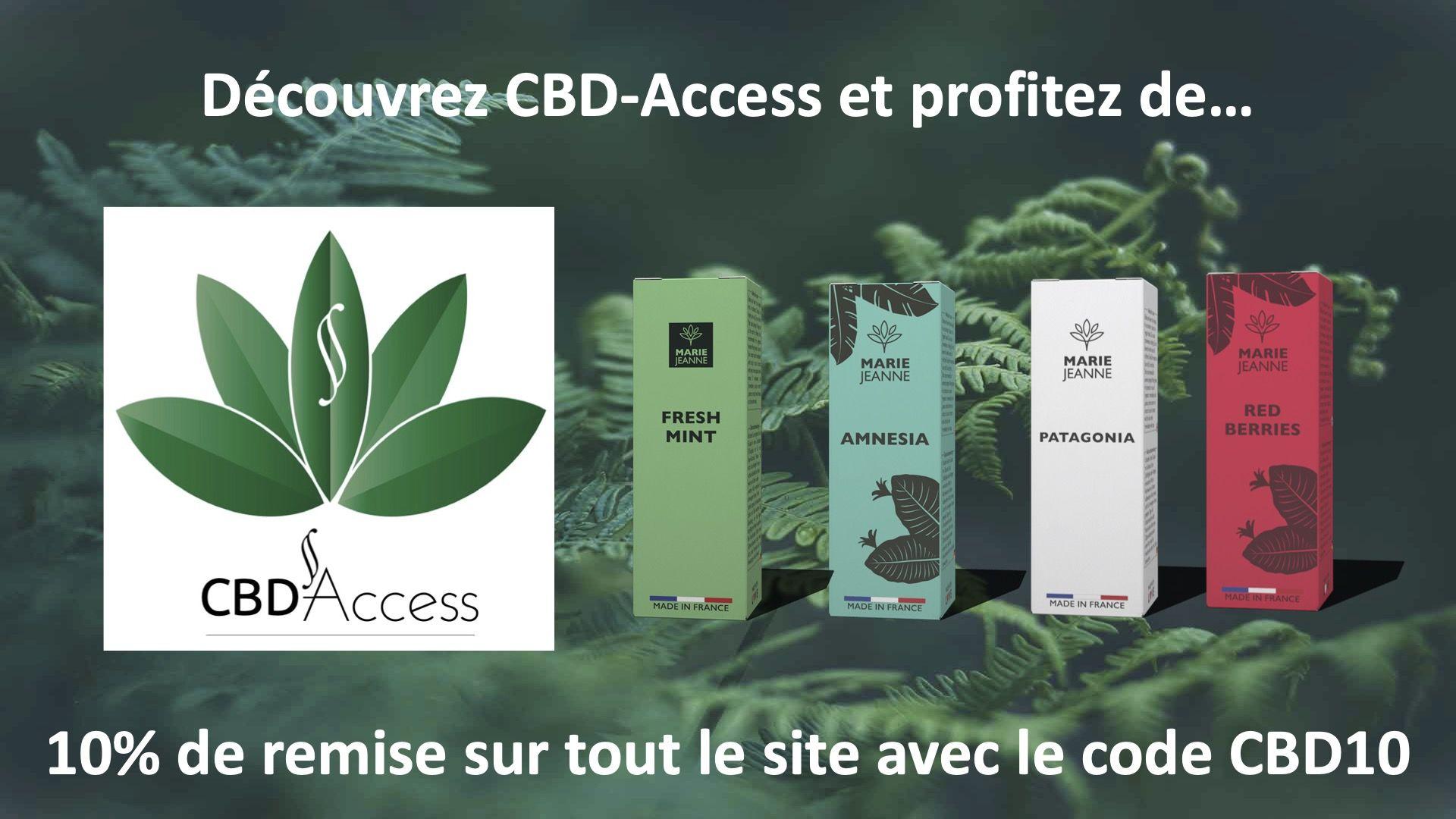 Profitez de 10% de remise sur CBD-Access.fr